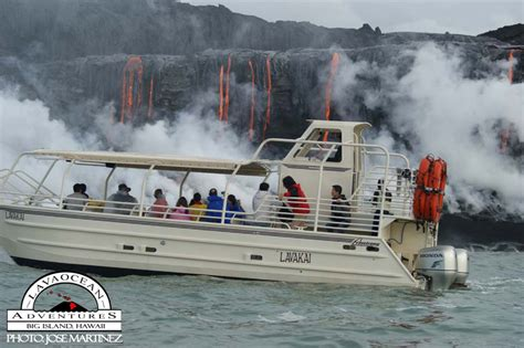 Lava Boat Tours Hawaii by Hawaii Volcano Tours Lava Boat Lavakai