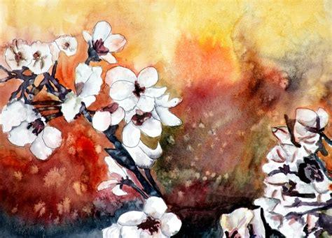 watercolor paintings by derek mccrea modern flower