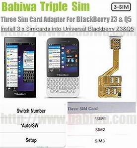 3 Simcard For Blackberry Z3 And Q5 Series  Triple Sim Card Adapter For Blackberry Bb Z3 And Q5
