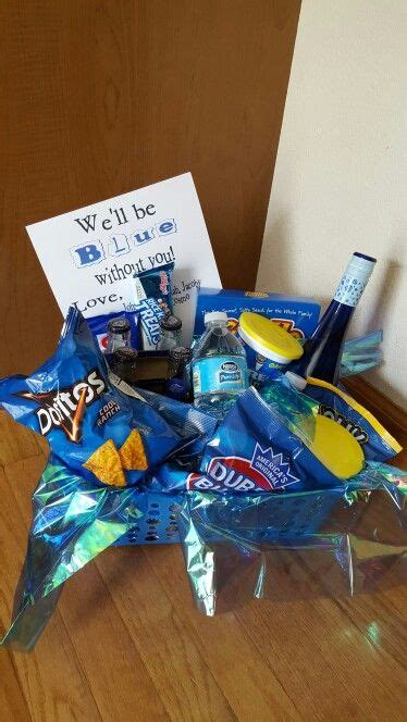 blue   moving gift basket cute birthday gift