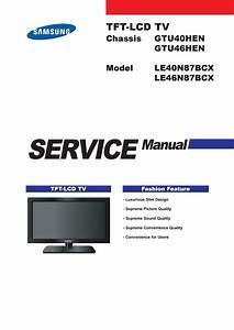 Manual De Servi U00e7o Tvs Samsung Modelos Le40n87bcx E