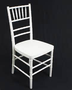 chivari chair rental white chiavari chair