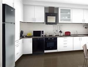 Cuisine Noir Et Blanc : cuisine indogate idee chambre noir et blanc dessin ~ Melissatoandfro.com Idées de Décoration