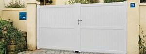 Portail Alu 3m : portail plein 3m castorama portail aluminium maison infos ~ Edinachiropracticcenter.com Idées de Décoration