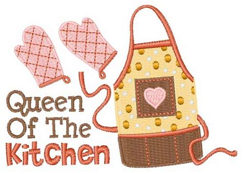 Kitchen Queen Embroidery Designs, Machine Embroidery