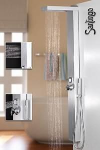 Duschpaneel Mit Massagedüsen : silbernes alu duschpaneel duschs ule mit regendusche und massaged sen in silber von sanlingo ~ Eleganceandgraceweddings.com Haus und Dekorationen