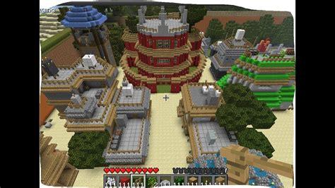 mapa  minecraft vila de konoha anime narutoft
