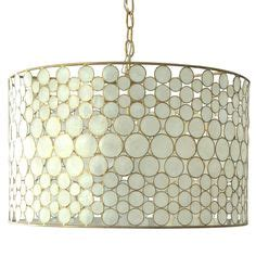 Capiz Drum Chandelier by Capiz Shells Light Eclectic Pendant Lighting Drum
