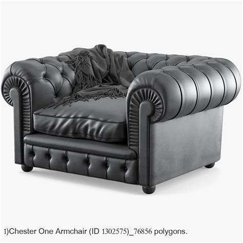 chester poltrona 3d chester poltrona frau turbosquid 1305392