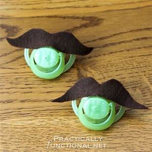 Quick And Easy Diy Mustache Pacifiers