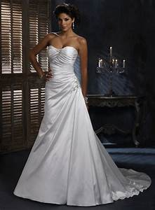 a line satin wedding dresses pictures ideas guide to With aline wedding dress