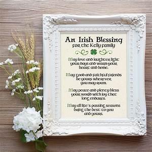 irish blessing print irish christmas gift irish prayer With wedding shower blessings