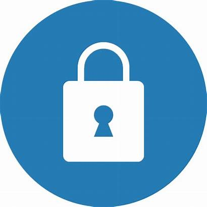 Icon Security Lock Secure Safe Privacy Circle