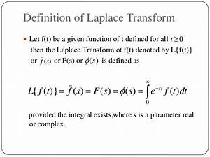 Laplace transform and its applications