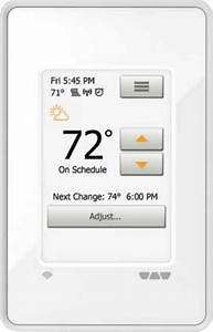 Schluter Systems Ditra Heat Wifi Touchscreen Programmable Thermostat  Dhe Rt 104  Bw