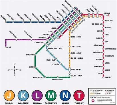 Francisco Metro San Muni Map Subway Mapa