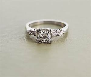 White gold vintage engagement rings white gold for Antique white gold wedding rings