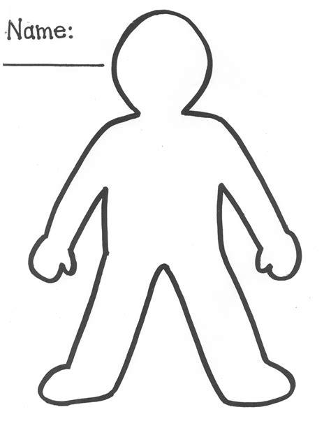 human body outline printable clipart