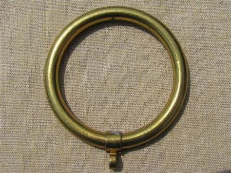 brass curtain rings for cafe curtains vintage drapery