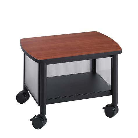under desk printer cart safco impromptu under table printer stand