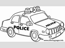 Police Car Coloring Pages to Print Cars for Kids Drawing
