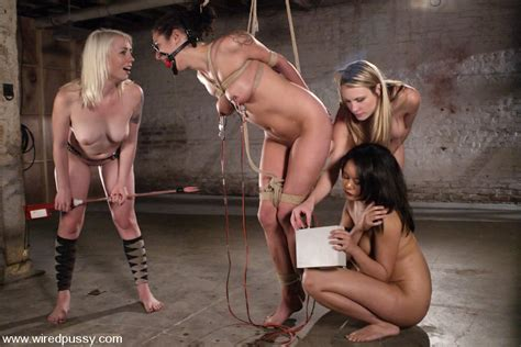 Kinky Blonde With Ropes And Wires On Face A Xxx Dessert