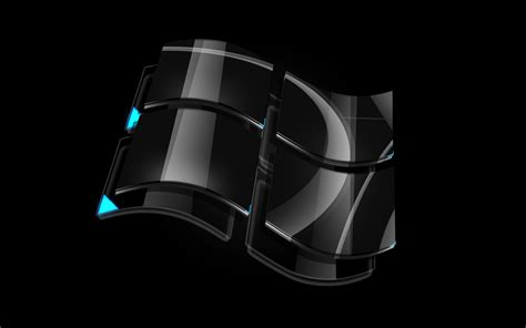 windows dark glass logo wallpapers wallpapers hd