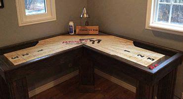 wood corner shuffleboard home basement game wood games