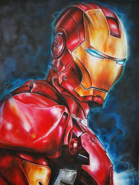 Iron Man Artwork by Derek Turcotte Art