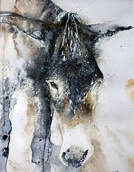 Donkey Watercolor Painting