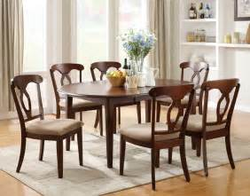Formal Dining Room Set Liam Cherry Finish 7 Space Saver Dining Room Set
