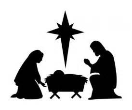 Nativity Scene Silhouette Pattern-Free