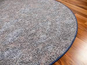 Teppich Grau Blau : schlingen teppich memory grau blau meliert rund in 7 gr en teppiche schlingenteppiche ~ Indierocktalk.com Haus und Dekorationen