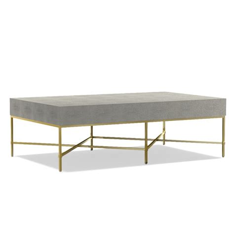 shagreen coffee table square houseology collection faux shagreen coffee table with