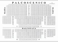 Mappa dei posti a sedere Teatro San Babila Milano