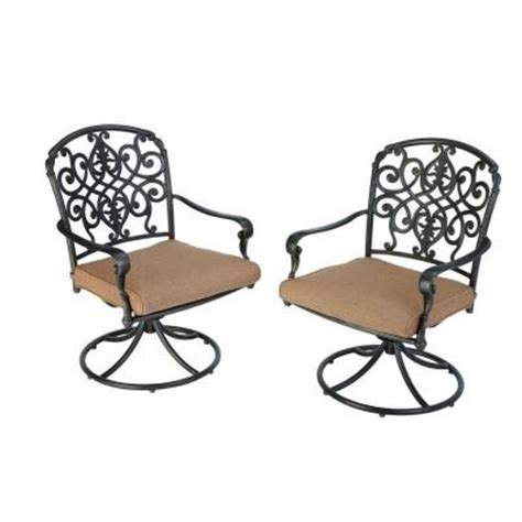 hton bay edington 2013 swivel patio dining chair with