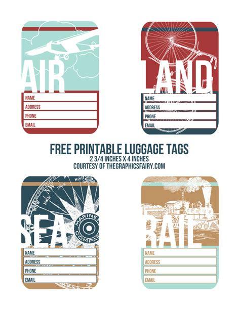 Printable Luggage Tags Images Cutest Printable Luggage Tags The Graphics