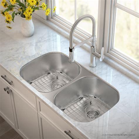premium kitchen sinks kraus kbu22e164042ss 32 inch bowl kitchen sink and 1640