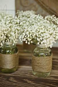 Beautiful, Bridal, 13, Most, Beautiful, Mason, Jar, Centerpieces