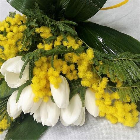 fiori e mimose tulipani e mimosa tulipani e mimosa mimosa invio
