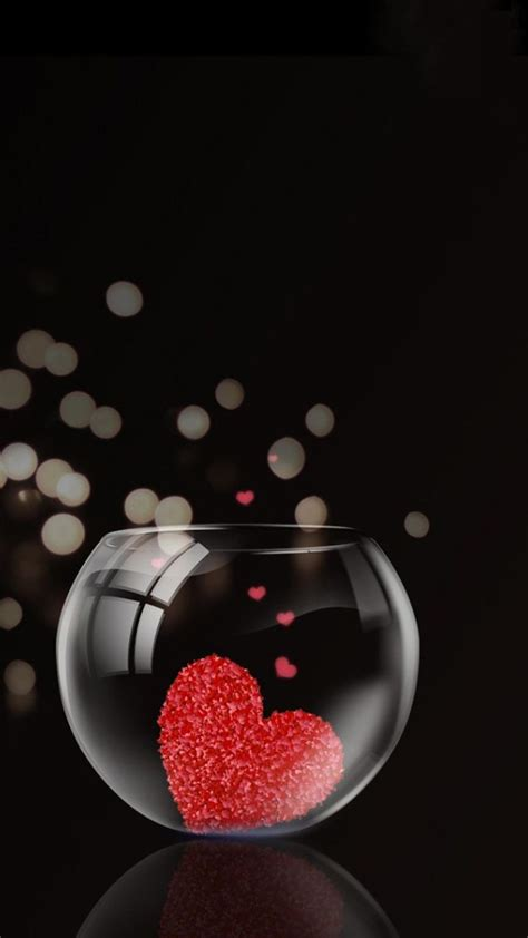 I believe in lust at first sight but love comes in when you get to know a person; 3D Love iPhone Wallpaper | Love wallpaper, Heart wallpaper, Love images
