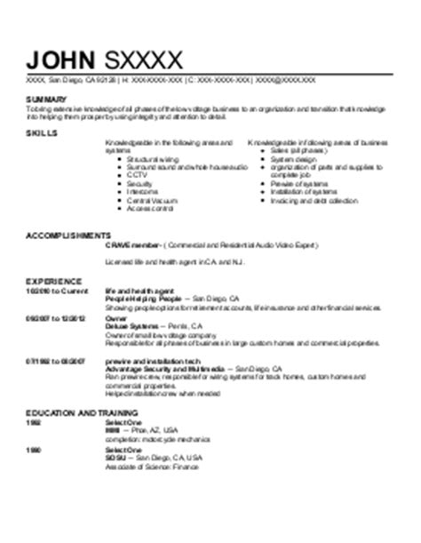 low voltage resume sle sle resume