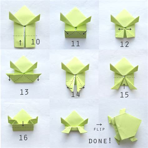 origami frog   jumps   autumn