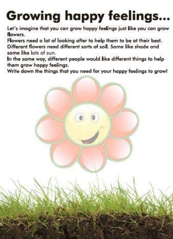 growing happy feelings   worksheets  emotions