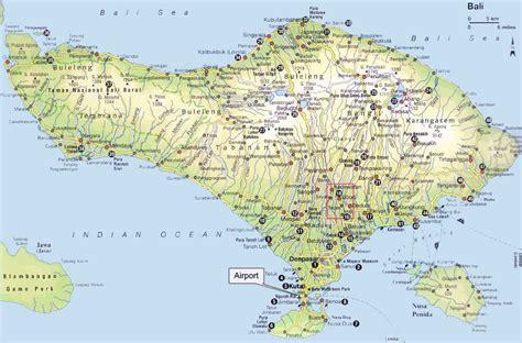 detail bali indonesia map  tourists guide bali
