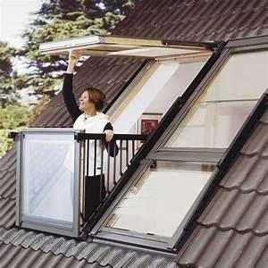 Lucarne De Toit Fixe : la fen tre de toit cabrio de velux se transforme en ~ Premium-room.com Idées de Décoration