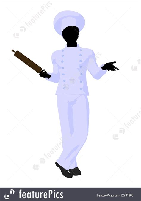 people  work chef silhouette stock illustration