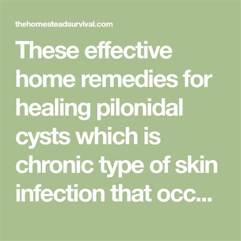These Effective Home Remedies For Healing Pilonidal Cysts