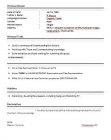 best resume format for freshers professional resume format for freshers