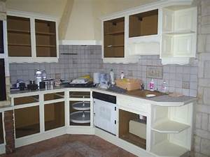 repeindre meuble cuisine chene 6 de brut peindre les bois With repeindre meuble cuisine chene